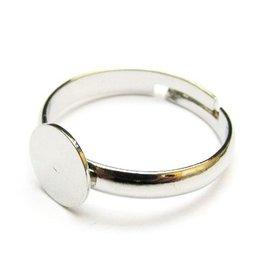 Ring met plakplaatje zilver (3x)