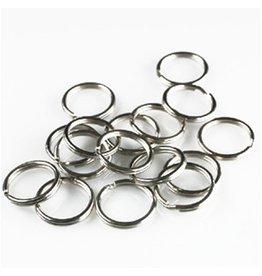 Splitring antiek zilver 8 mm