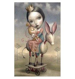 La marelle Kaart ezeltje op wielen