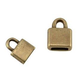 DQ metalen eindkapje antiek brons 5 mm (1x)