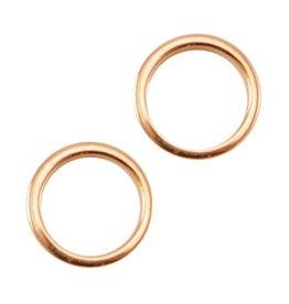 Dichte ring dq 8 mm rosegoud (5x)