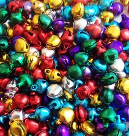 Glimmende belletjes mix of op kleur (50x)