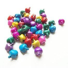 Gekleurde belletjes 8 mm (mix of kleur)