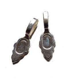 Metalen hanger met plakvlak zilver (2x)