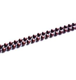 Ball chain donker koper 2 mm (p/10 cm)