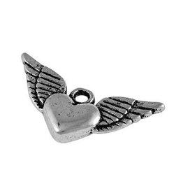 Bedel hartje met vleugels (2x)
