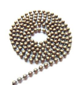 Ball chain antiek brons 2 mm
