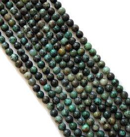 Natuurlijke turkooiskralen rond (per stuk of streng)