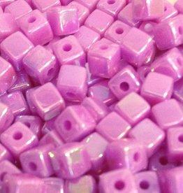 Blokjeskraal lila 4 mm (50x)