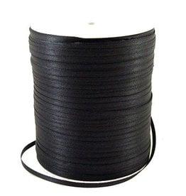 Satijnlint zwart 3 mm (10m)