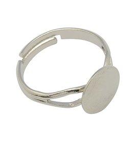 Ring met plakplaatje zilver II (3x)