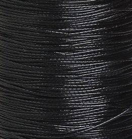 Waxkoord polyester zwart 0,5 mm (5m)