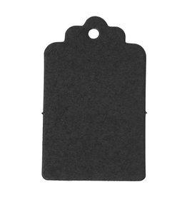 Zwarte labels karton (10x)
