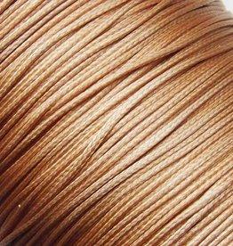 Waxkoord polyester 1 mm goudkleurig (5m)
