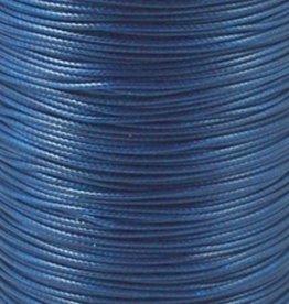 Waxkoord polyester 0,5 mm blauw (5m)