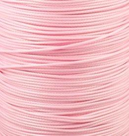 Waxkoord polyester 0,5 mm lichtroze (5m)
