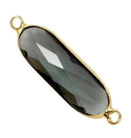 Tussenstuk crystalglas zwart goud (1x)