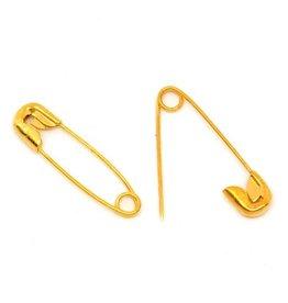 Goudkleurige veiligheidspelden (25x)