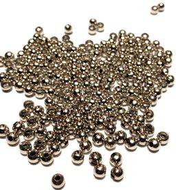 Metalen tussenkraal rond antiek zilver 4 mm (30x)