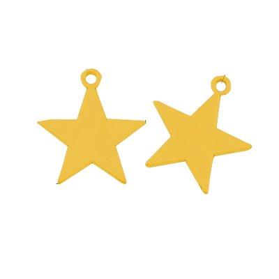 Bedel metalen ster antiek goudkleurig (1x)