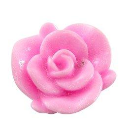 Cabochon roze bloem (5x)