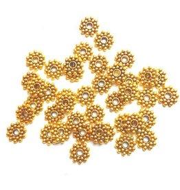 Tussenkraal sneeuwvlok antiek goud (15x)