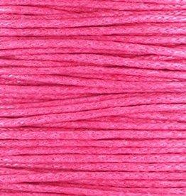 Waxkoord katoen hot pink (5m)