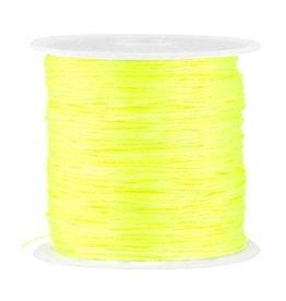 Satijndraad neon geel 0,8 mm (5m)