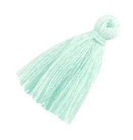Kwastje klein mint groen (2x)