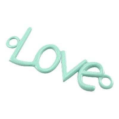 Tussenstuk love pastel turquoise groen (1x)