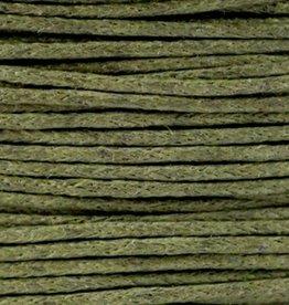 Waxkoord katoen legergroen 1 mm (5m)