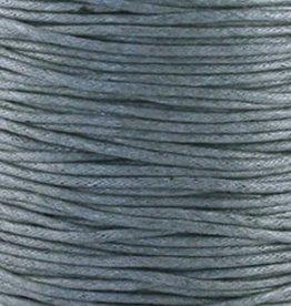 Waxkoord katoen donkergrijs 1 mm (5m)