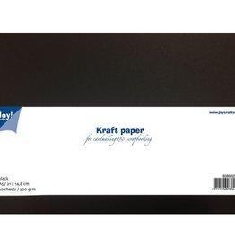 Kraft karton/papier a5 zwart