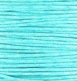 Waxkoord katoen turquoise blauw 1,5 mm (3m)