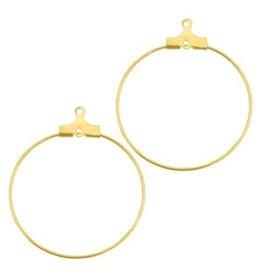 DQ oorring hanger goud (p.p)
