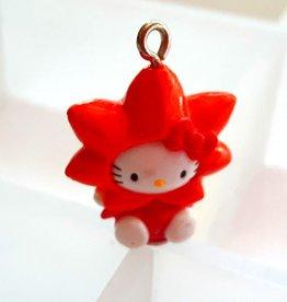 Bedel Hello Kitty oranje bloem