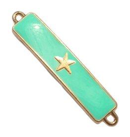 Tussenstuk bar met ster groen goud (1x)