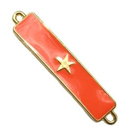 Tussenstuk bar met ster oranje rood/goud