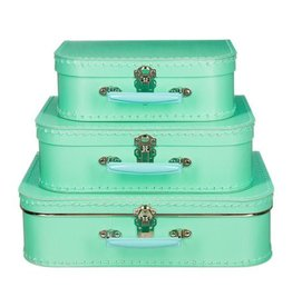 Mechato Koffer turquoise-mint (los of set)