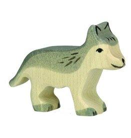 Holtziger Houten wolvenjong grijs