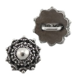 Metalen schuiver zeeuwse knoop antiek zilver (1x)
