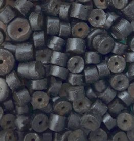 Kokoskraal cilinder zwart 5 mm (30x)