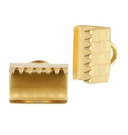 DQ lintklem 10 mm goud (2x)