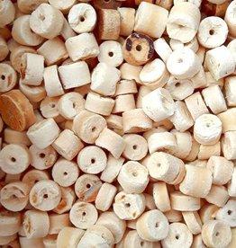 Kokoskraal cilinder wit 5 mm (30x)