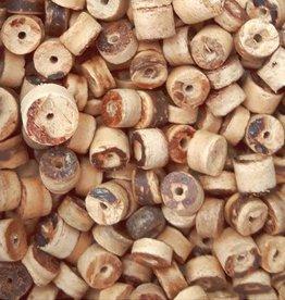 Kokoskraal cilinder bruin 5 mm (30x)