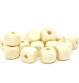 Houten blanco kraal vierkant 10 mm (15)