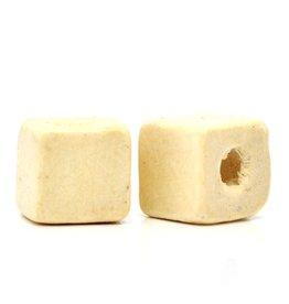 Houten blanco kraal vierkant 10 mm II (15x)