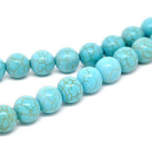 Imitatie turquoise kraal 12 mm (5x of streng)