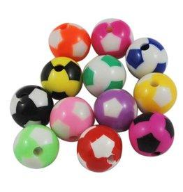 Restant gekleurde voetbalkralen (mix 100x)