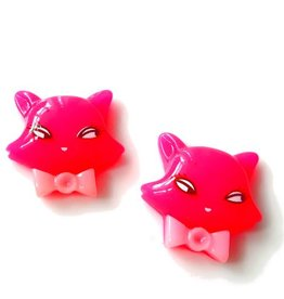 Flatback roze kattenkopje (1x)
